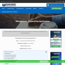 Management Accounting System