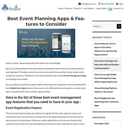 Best Event Planning Apps & Features to Consider