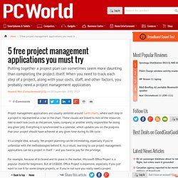 5 free project management applications you must try