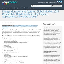 Energy Management Systems Global Market 2016 Research In-Depth Analysis, Key Players, Applications, Forecasts to 2021