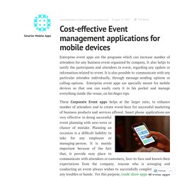 Resourceful Corporate Event apps