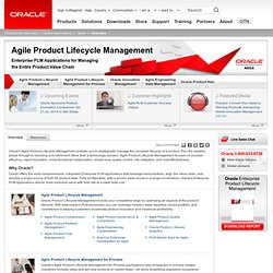 Agile Product Lifecycle Management | Applications | Oracle