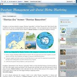 """""""Russian Sea"""" becomes """"Russian Aquaculture"""""""