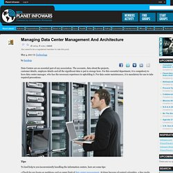 Managing Data Center Management and Architecture
