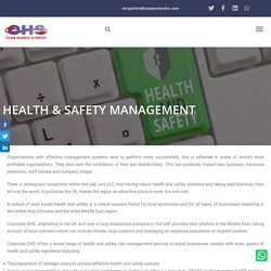 Health And Safety Risk Management & Assessments Services UAE