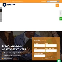 IT Management Assignment Help - Online Writing Services for UK Students