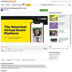 Hubilo Virtual Conference Platform