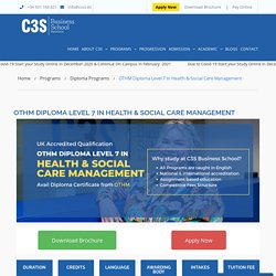 Diploma in Healthcare Management in Spain