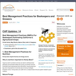 EXTENSION_ORG 30/07/13 Best Management Practices for Beekeepers and Growers