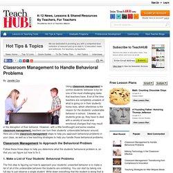 Classroom Management to Handle Behavioral Problems