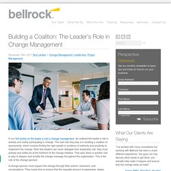 Building a Coalition: The Leader's Role in Change Management