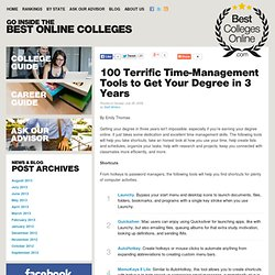 100 Terrific Time-Management Tools to Get Your Degree in 3 Years