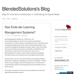 Das Ende der Learning Management Systeme?