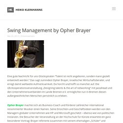 Swing Management by Opher Brayer