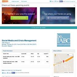 Social Media and Crisis Management - Iabc- Eventbrite