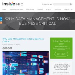Why Data Management Is Now Business Critical