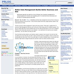 Better Data Management Builds Better Business and ROI