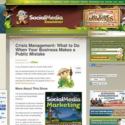Crisis Management: What to Do When Your Business Makes a Public Mistake