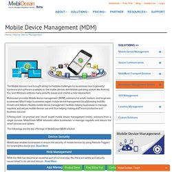 Get Mobile Device Management (MDM) Software From Mobiocean.com