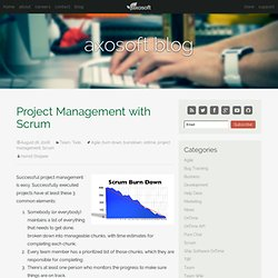 Project Management with Scrum « Ship Software OnTime!
