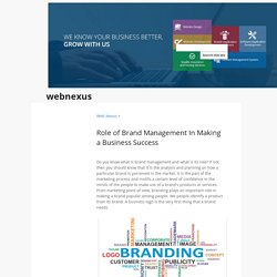 Role of Brand Management In Making a Business Success