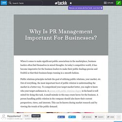 Why Is PR Management Important For Businesses?
