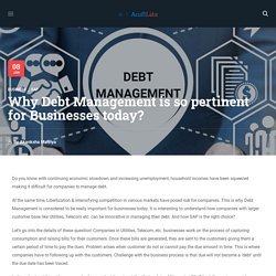 Why Debt Management is so pertinent for Businesses today? - Acuiti Labs