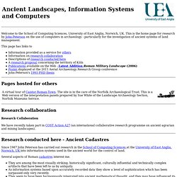 Ancient land management and Roman cadastration from UEA