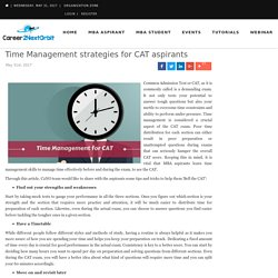 Time Management strategies for CAT aspirants