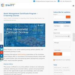 Retail Management Certificate Program – E-learning Courses