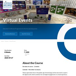 Virtual Events Management Courses in India