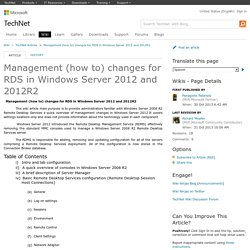 Management (how to) changes for RDS in Windows Server 2012 and 2012R2