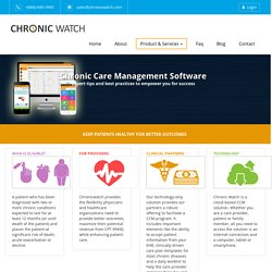 Chronic care management software