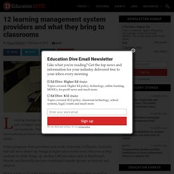 12 learning management system providers and what they bring to classrooms
