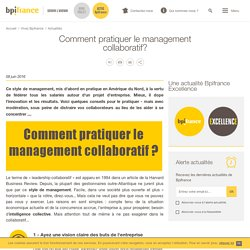 Comment pratiquer le management collaboratif?
