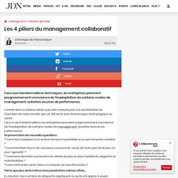 Les 4 piliers du management collaboratif - JDN Management
