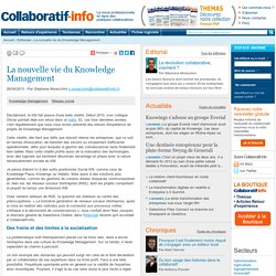 La nouvelle vie du Knowledge Management