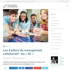 Les 4 piliers du management collaboratif : les « 4C »