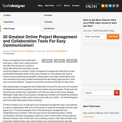 30 Greatest Online Project Management and Collaboration Tools