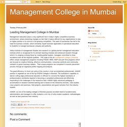 Management College in Mumbai: Leading Management College in Mumbai