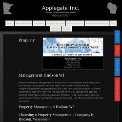 Property Management Hudson WI by Applegate Commercial Real Estate