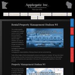 Rental Property Management Hudson WIby Applegate Commercial