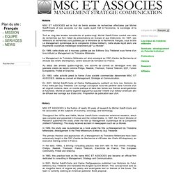 MSC ET ASSOCIES | Management Strategy Communication