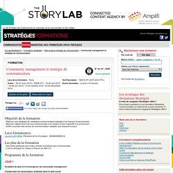 Community management et stratégie de communication - Formation Stratégies