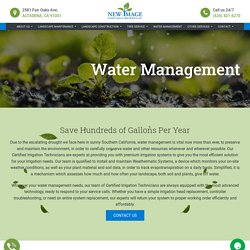 Water Management Companies System and Solutions in Los Angeles