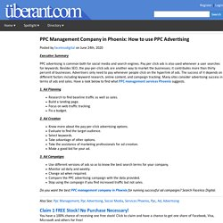 PPC Management Company in Phoenix: How to use PPC Advertising