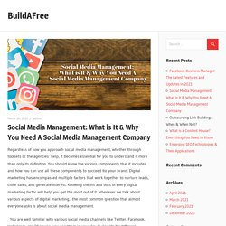 Social Media Management: What is It & Why You Need A Social Media Management Company – BuildAFree