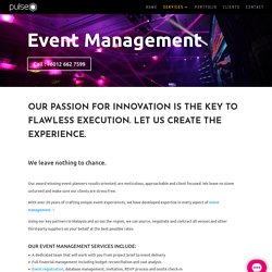 Event Management Company in Malaysia, Event Company