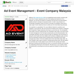 Ad Event Management : Event Company Malaysia