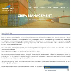 Westline Shipping - Make A Successful Career in Marine Crew Management